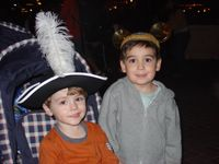Johnny and Sammy in their hats